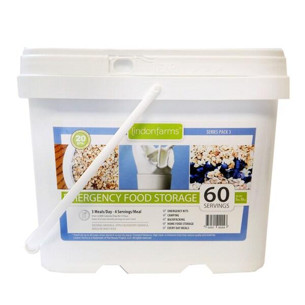 Lindon Farms Granola/ Whey Milk Food Storage Kit (60-servings)