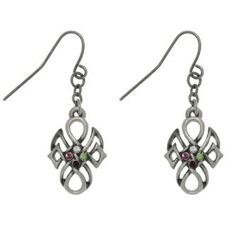 Carolina Glamour Collection Pewter Rhinestone Tribal Knot Earrings https://ak1.ostkcdn.com/images/products/7879289/7879289/CGC-Pewter-Rhinestone-Tribal-Knot-Earrings-P15262248.jpg?impolicy=medium