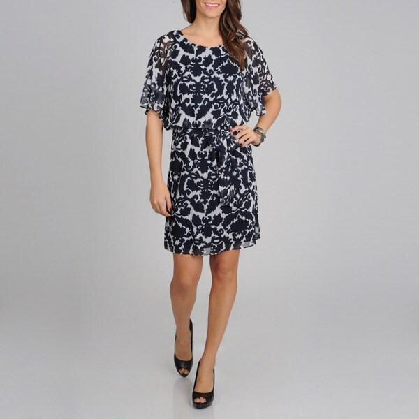 Lennie for Nina Leonard Women's Aztec Printed Dress