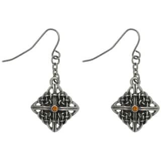 Carolina Glamour Collection Pewter Rhinestone Celtic Square Knot Earrings https://ak1.ostkcdn.com/images/products/7879310/7879310/CGC-Pewter-Rhinestone-Celtic-Square-Knot-Earrings-P15262251.jpg?impolicy=medium