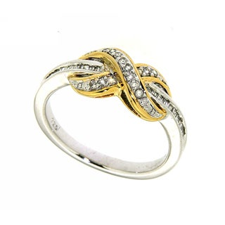 14k Gold over Silver 1/4ct TDW Diamond Infinity Ring