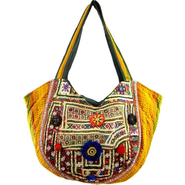 Embroidered Vintage Design Banjara Hobo Bag (India)