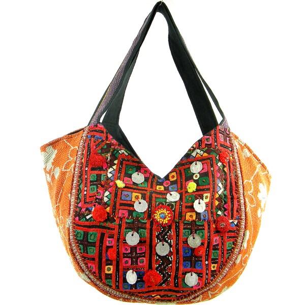 Handstiched Vintage Design Banjara Hobo Bag (India)
