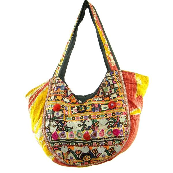 Cotton Vintage Design Banjara Hobo Bag (India)