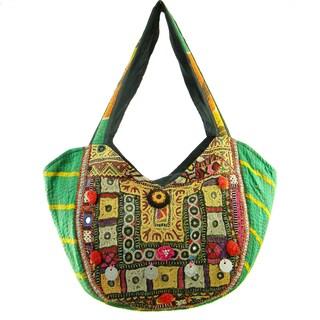 Handmade Embroidered Banjara Hobo Bag (India)