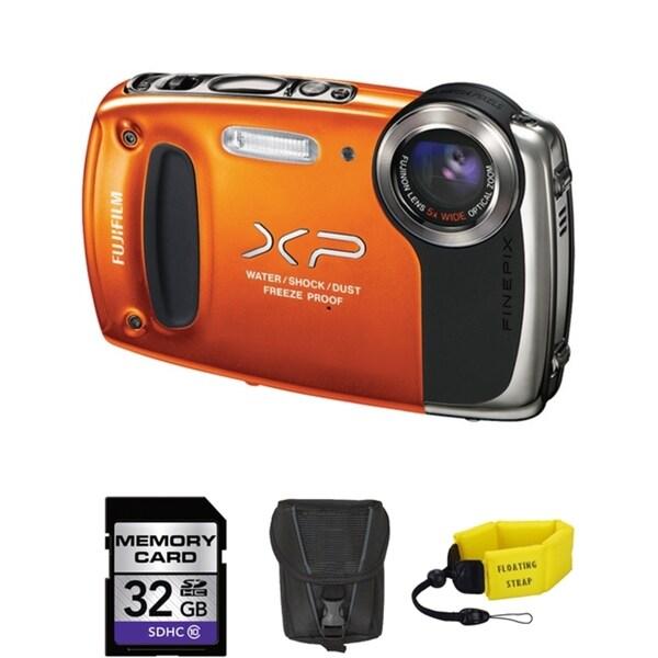 Fujifilm FinePix XP50 14MP Waterproof Digital Camera Bundle