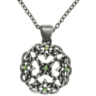 Carolina Glamour Collection Pewter Rhinestone Knot Mandala Necklace