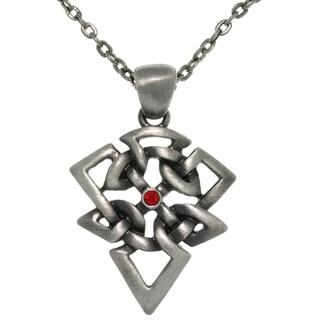Carolina Glamour Collection Pewter Rhinestone Celtic Arrow Necklace