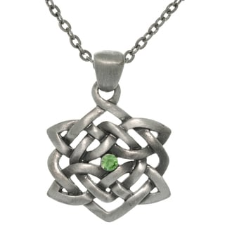 Carolina Glamour Collection Pewter Rhinestone Celtic Illusion Necklace