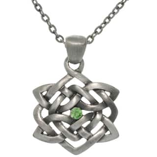 Pewter Rhinestone Celtic Illusion Necklace|https://ak1.ostkcdn.com/images/products/7879423/7879423/CGCPewter-Rhinestone-Celtic-Illusion-Necklace-P15262365.jpg?impolicy=medium