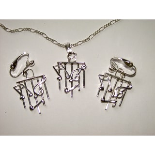 Detti Originals Musical Necklace and Earring Set