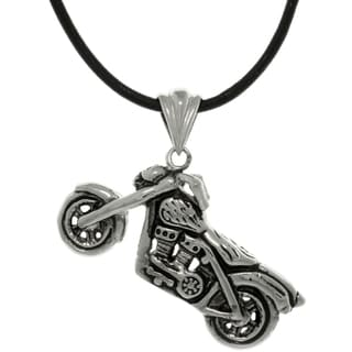 Carolina Glamour Collection Stainless Steel Motorcycle Necklace