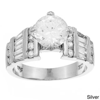 Sterling Essentials Silver Cubic Zirconia Ring (More options available)