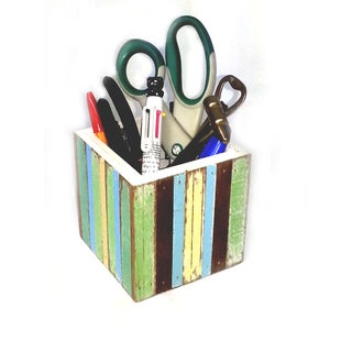 Handmade Recycled Wood Handy Caddy (Thailand)