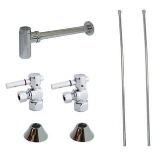 Decorative Chrome Plumbing Supply Kit (Drain, Shut Off Valves and Supply Lines)