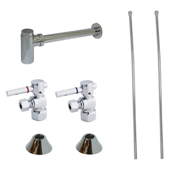 Shop Decorative Chrome Plumbing Supply Kit (Drain, Shut Off Valves ...