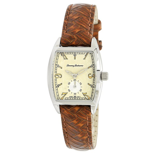 Tommy Bahama Women S Cream Dial Brown Strap Watch Free