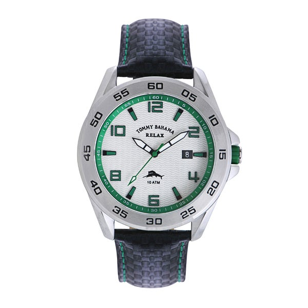 Tommy Bahama Men's 'Relax' Green Accent Watch