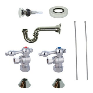 Decorative Vessel Sink Chrome Plumbing Supply Kit with Overflow Hole