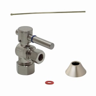 Decorative Solid Brass Satin Nickel Toilet Supply Kit