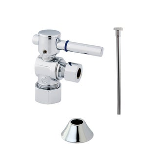 Decorative Chrome Toilet Supply Kit