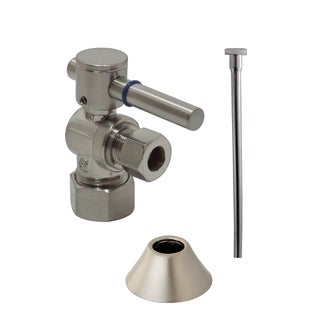 Decorative Classic Satin Nickel Toilet Supply Kit