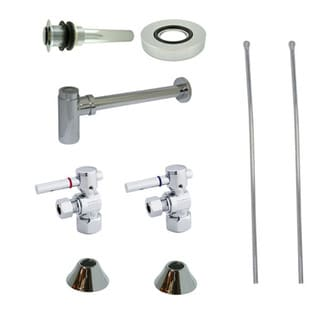 Decorative Solid Brass Vessel Sink Chrome Plumbing Supply Kit without Overflow Hole