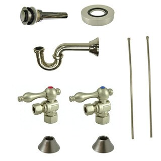 Decorative Vessel Sink Satin Nickel Plumbing Supply Kit without Overflow Hole