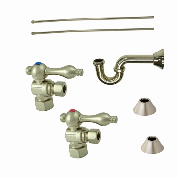 Shop Decorative Satin Nickel Plumbing Supply Kit - Free Shipping ...