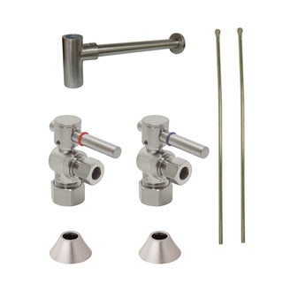Decorative Satin Nickel Solid Brass Plumbing Supply Kit