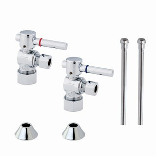 Decorative Chrome Plumbing Supply Kit