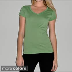 Bella Women's V-Neck Jersey T-shirt|https://ak1.ostkcdn.com/images/products/7879596/Bella-Womens-V-Neck-Jersey-T-shirt-P15262490a.jpg?impolicy=medium