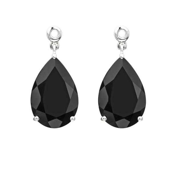70370cf12ca5d Shop Sterling Silver Black Onyx Earring Jackets (Set of 2) - Free ...