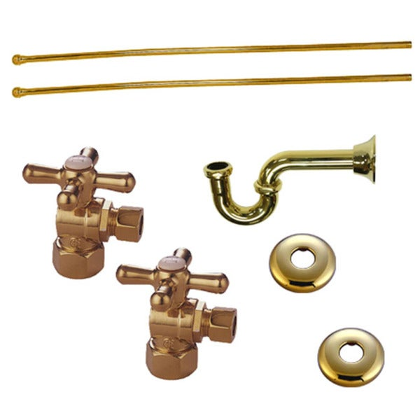 Shop Decorative Polished Brass Plumbing Supply Kit (Drain, Shut-off ...