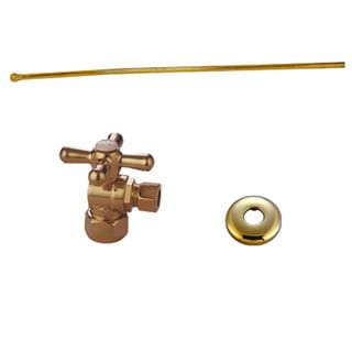 Decorative Polished Brass Toilet Plumbing Supply Kit