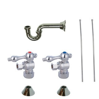 Decorative Polished Chrome Plumbing Supply Kit
