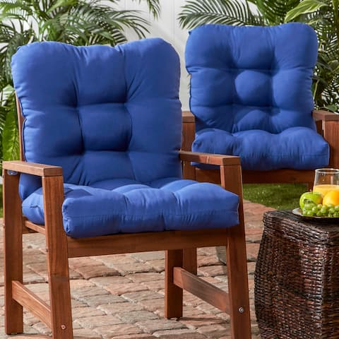 Havenside Home Driftwood Outdoor Seat/Back Chair Cushions (Set of 2)