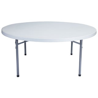 Blow-molded Round 71-inch Lightweight Folding Table