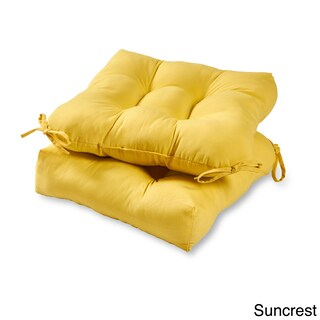 Greendale Home Fashions Outdoor Solid Chair Cushion (Set of 2) - 20l x 20w (Option: sunbeam)