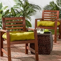 Porch & Den Rosewood Graham 20-inch Outdoor Solid Chair Cushion (Set of 2)