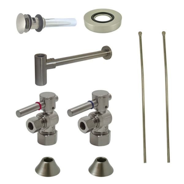 Satin NIckel Vessel Sink Plumbing Supply Kit - Free Shipping Today ...