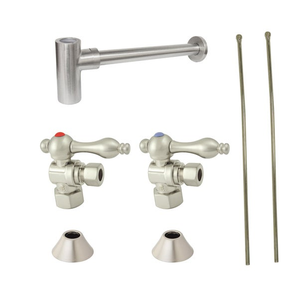Decorative Satin Nickel Plumbing Supply Kit - Free Shipping Today ...