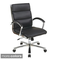 Executive Faux Leather Chair with Chrome Finished Base