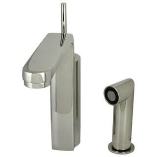 Jado Platinum Nickel Single Lever Kitchen Faucet with Spray