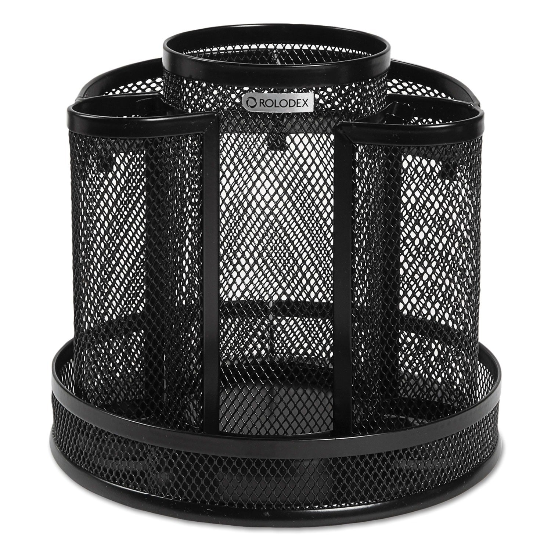 Rubbermaid Rolodex Black Wire Mesh Spinning Desk Sorter (...