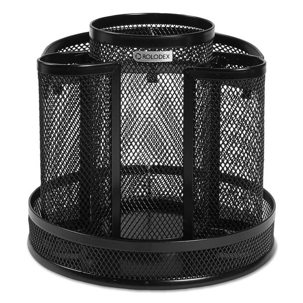 Shop Rolodex Black Wire Mesh Spinning Desk Sorter