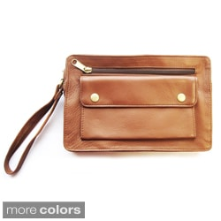 Tanners Avenue Unisex Leather Accessories Bag with Wrist Strap