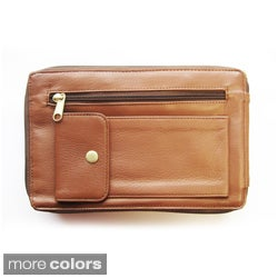 Unisex Glove Leather Travel Bag with Wrist Handle