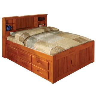 Honey Pine Full Bookcase Bed|https://ak1.ostkcdn.com/images/products/7879822/7879822/Honey-Pine-Full-Bookcase-Bed-P15262762.jpg?impolicy=medium