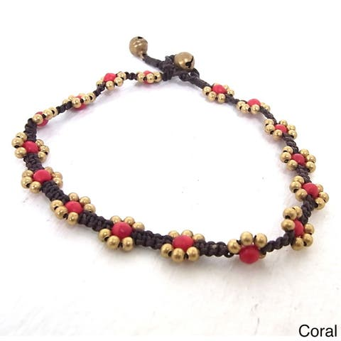 Handmade Flower Beads Anklet (Thailand)